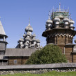 Stock Photo: Karelia. Kizhi. belltower and Preobraz