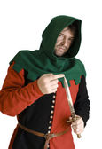 Medieval robber — Stock Photo
