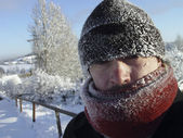 Russian winter: Frost — Stock Photo