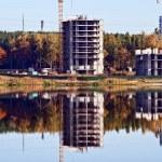 Crane reflection — Stock Photo #1218152