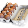 Royalty-Free Stock Photo: Box with eggs