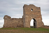 Ruined gates of cossack castle — Stock Photo