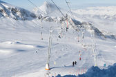 Plate lift in alps — Stock Photo