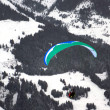 图库照片: Flying paraglider