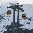 Gondola in alps — Stock Photo