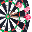 Stock Photo: Darts board with arrows