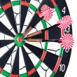 Darts board with arrows — Stock Photo