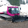 Stock Photo: Pink snowcat in dirt