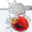 Apple in water splash — Stock Photo
