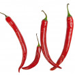 W letter made from chili — Stock Photo