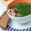 Stock Photo: Soup with chicken and vegetables