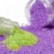 Lavender and green tea sea salt — Stock Photo