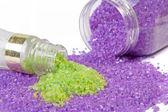 Lavender and green tea sea salt — Stock Photo