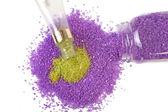 Lavendel und grüner tee-meersalz — Stockfoto