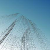 Skyskrapa blueprint — Stockfoto