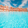 Water in pool and hotel — Stock Photo #1924708