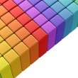 Royalty-Free Stock Photo: Colorful rainbow cubes