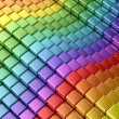 Colorful rainbow lines - Stock Photo