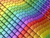 Colorful rainbow lines — Stock Photo