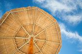 Slunečník a zamračená obloha — Stock fotografie