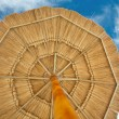 Beach umbrella over view — Stock Photo