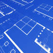 Conceptual blueprint — Stock Photo