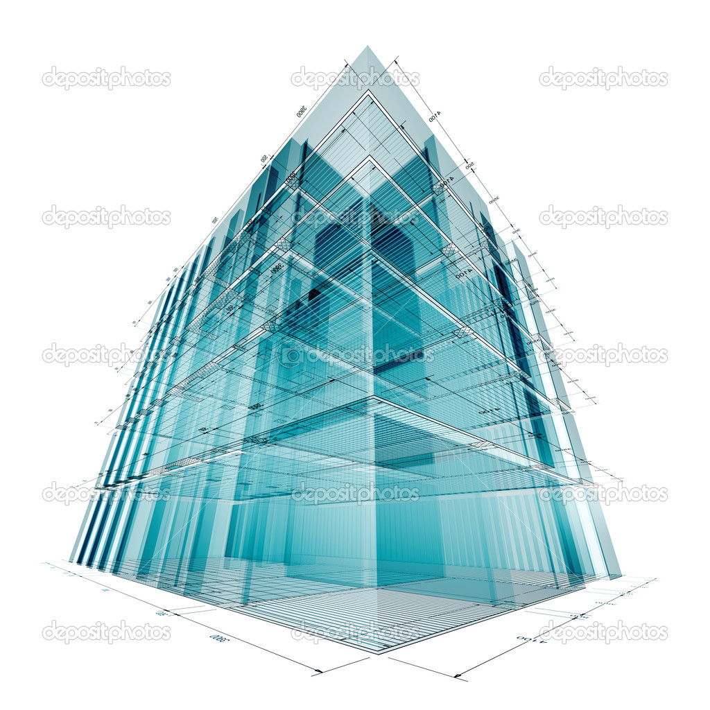 Building engineering. My personal concept architectural project — Stock Photo #2198100