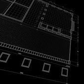 Plan directeur sur fond noir — Photo