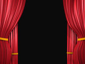 Curtain on black — Stock Photo