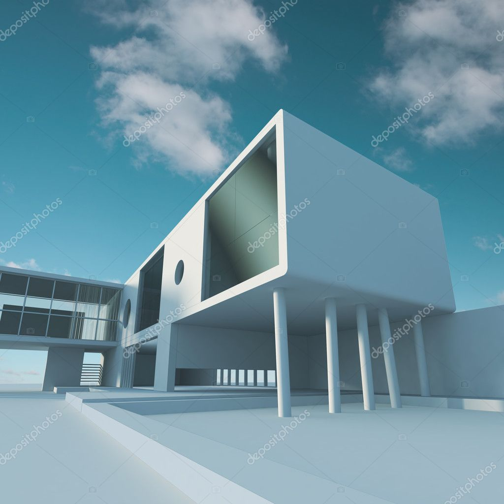 Business building structure. High quality 3d render — Stock Photo #2550400