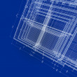 Abstract blueprint — Stock Photo