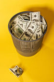 Thrown out money — Stock Photo