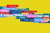 Aşk mesajı — Stok fotoğraf