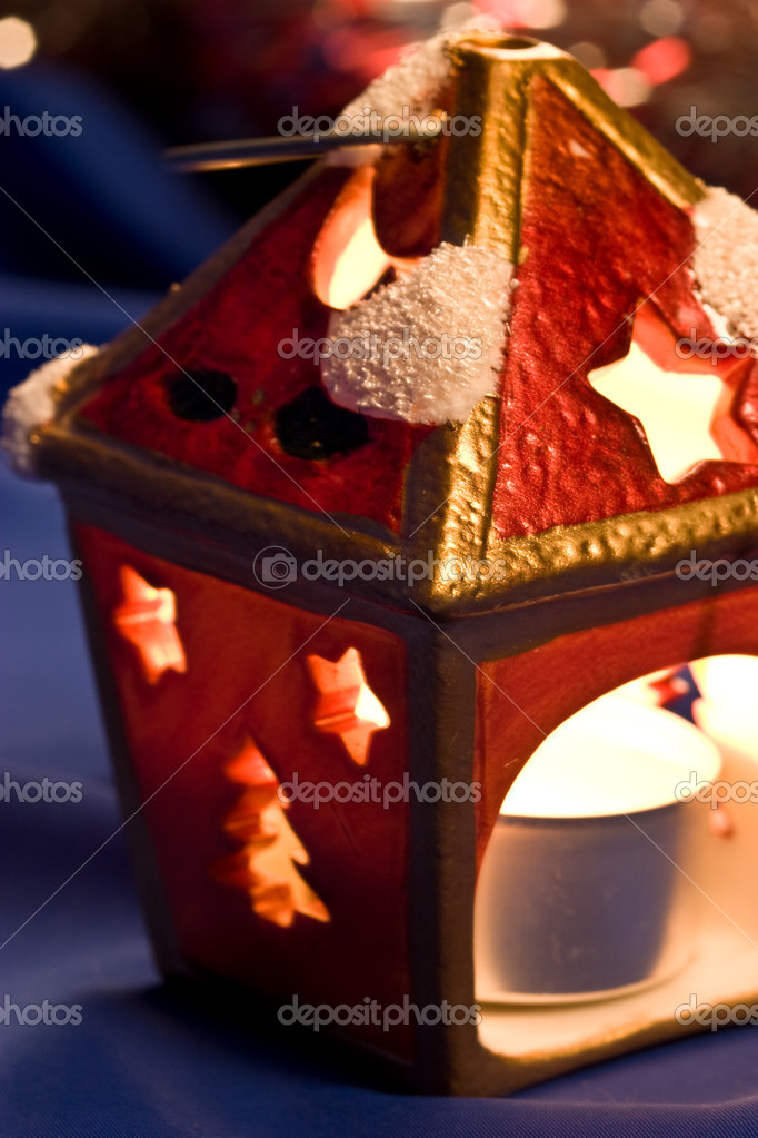 Christmas still life witn festive candle  Stockfoto #1230205