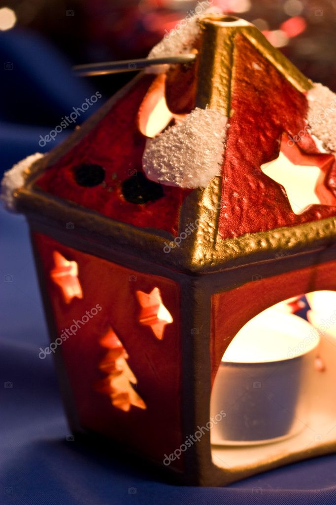 Christmas still life witn festive candle  Zdjcie stockowe #1230205