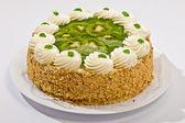Kivi ile pasta — Stok fotoğraf