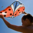 Playing the kite — Stock Photo
