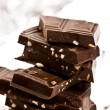 Slab chocolate with nut — Stockfoto #1275062
