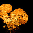 Heart shapet flame — Stock Photo