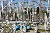 High-voltage substation — Stock Photo