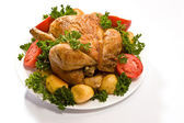 Grilovaná kuřata — Stock fotografie
