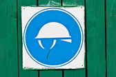 Construction safety sign — Zdjęcie stockowe