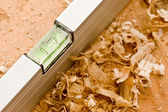 Carpenter's level — Stock Photo