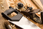 木匠工具 — 图库照片