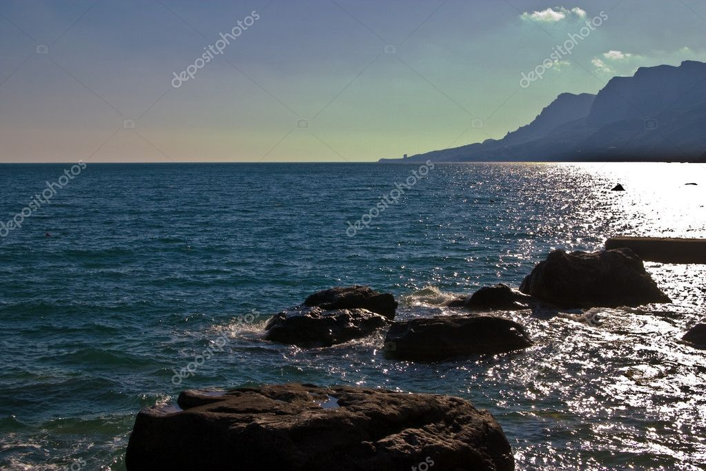 Nature series: Crimea landscape, black sea and mountain  Stock Photo #1282357
