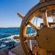 Stockfoto: Yacht journey, steering wheel