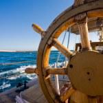 Yacht resa, ratt — Stockfoto
