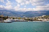 Yalta's port — Stock Photo