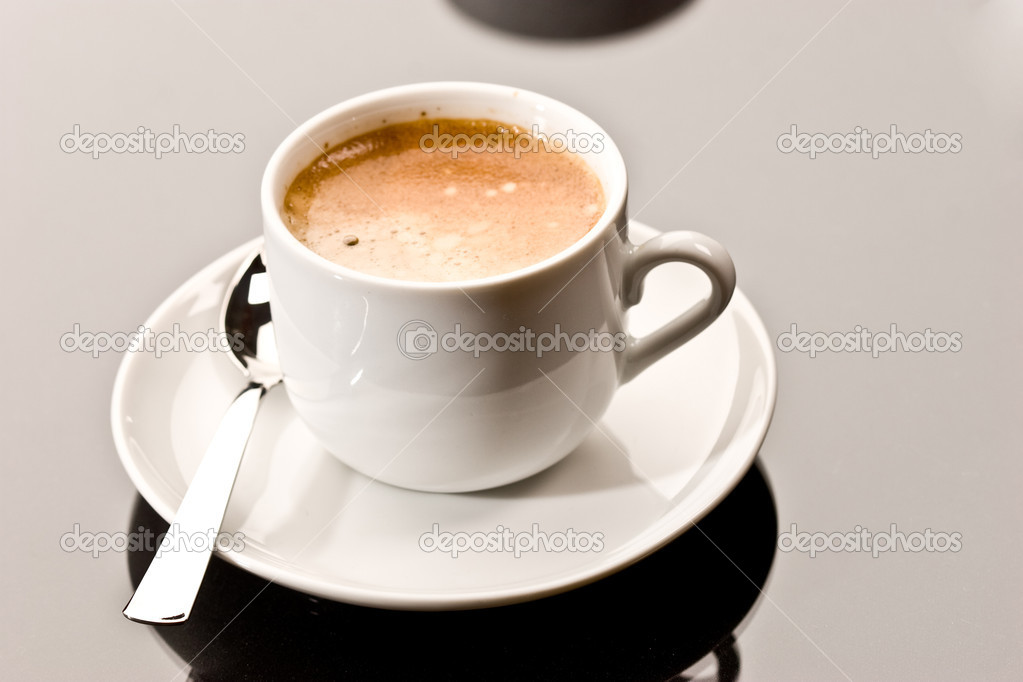 Drink series: cup of coffee, one espresso  Stock Photo #1290649
