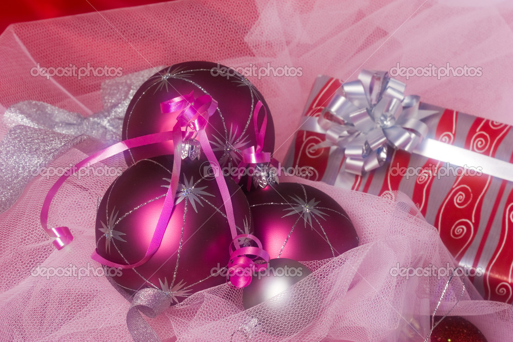 Christmas series: still life with holiday`s balls — Stock Photo #1295231